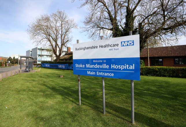 General view outside Stoke Mandeville hospital on April 08, 2020 in Aylesbury, England