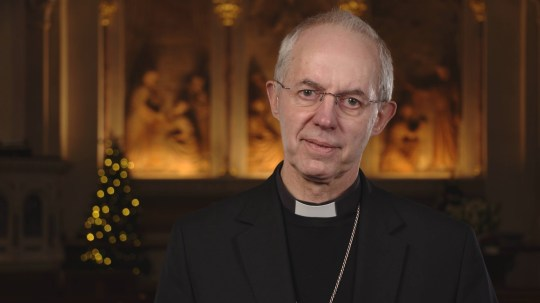 EMBARGOED TO 0001 FRIDAY JANUARY 1 For use in UK, Ireland or Benelux countries only Undated BBC handout photo of the Archbishop of Canterbury Justin Welby delivering his New Year's message. PA Photo. Issue date: Friday January 1, 2021. See PA story HEALTH Coronavirus. Photo credit should read: BBC/PA Wire NOTE TO EDITORS: Not for use more than 21 days after issue. You may use this picture without charge only for the purpose of publicising or reporting on current BBC programming, personnel or other BBC output or activity within 21 days of issue. Any use after that time MUST be cleared through BBC Picture Publicity. Please credit the image to the BBC and any named photographer or independent programme maker, as described in the caption.