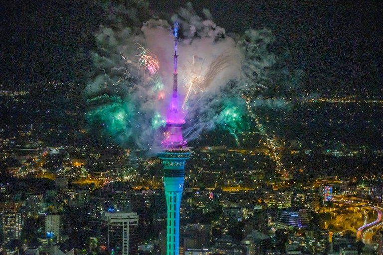 Feu d'artifice à Auckland