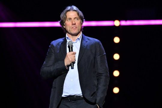 John Bishop performing during the Teenage Cancer Trust comedy night
