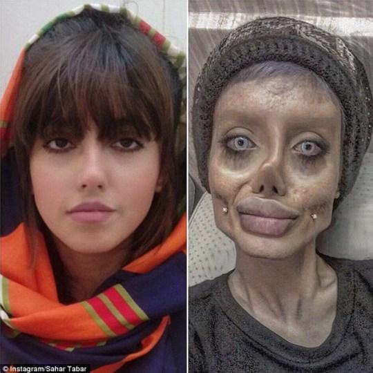 Sosie de cadavre iranienne Angelina Jolie
