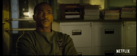 Anthony Mackie in Netflix's Outside The Wire