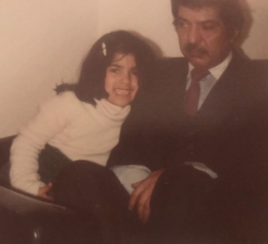 Sebina is raising awareness of the hundreds of thousands of young carers in the UK as the 20th anniversy of her father Vishi's death approaches in January (Picture: Sebina/GoFundMe)