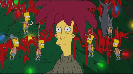 Sideshow Bob in The Simpsons.