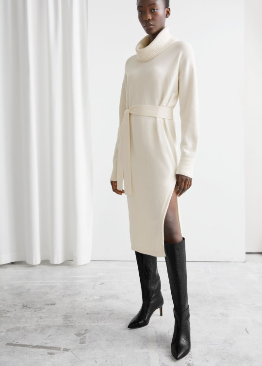 White knitted dress from & Other Stories