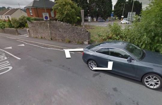 Wall on Google Maps