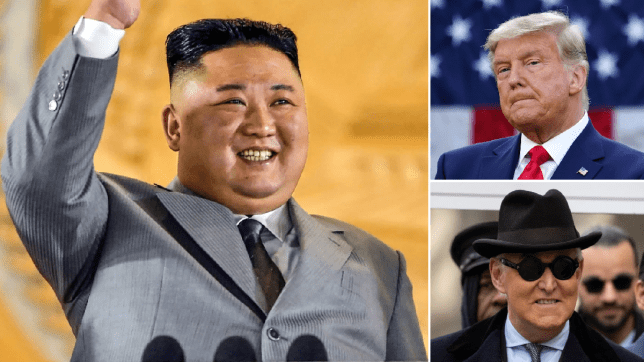 Kim Jong-un, Donald Trump and Roger Stone