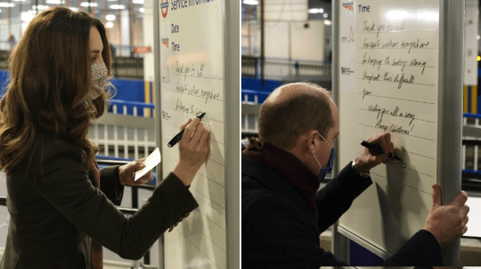 William and Kate write thank you message to transport workers 2