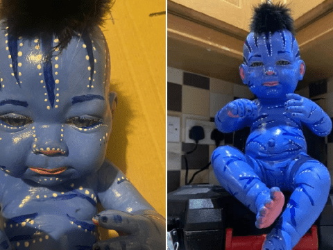 Parents make incredible Avatar baby doll for just £15