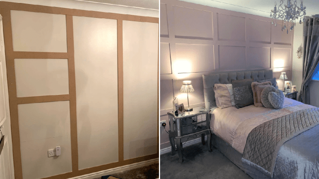 Making the panelling and the finished results