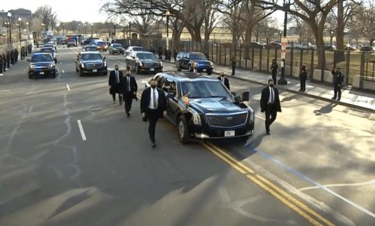Biden's cavalcade drives towards White House
