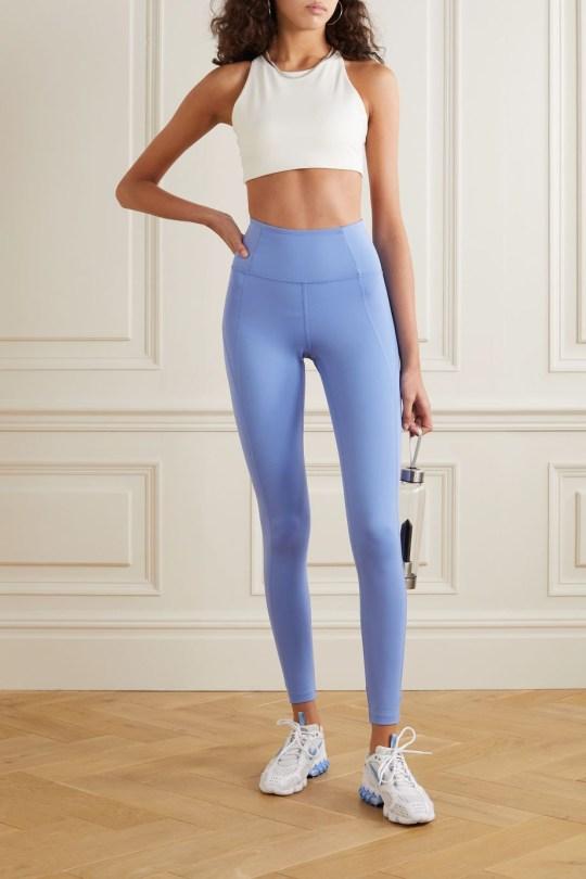 Girlfriend Collective light blue leggings