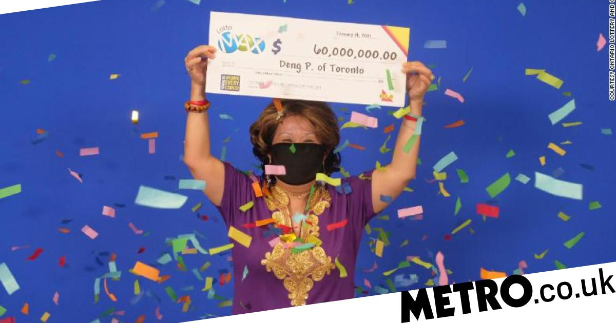 Woman wins $60 million lottery jackpot using numbers from her husband's dream - metro