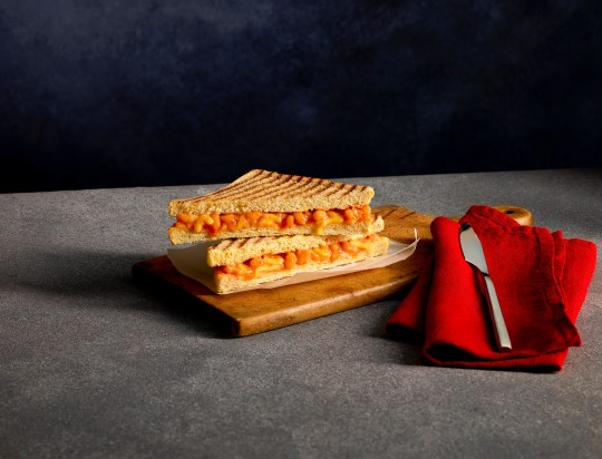 The offer includes yummy lunchtime options you'll only find at Costa Coffee, such as the irresistible Heinz Beanz & Cheese Toastie (Picture: Costa Coffee)