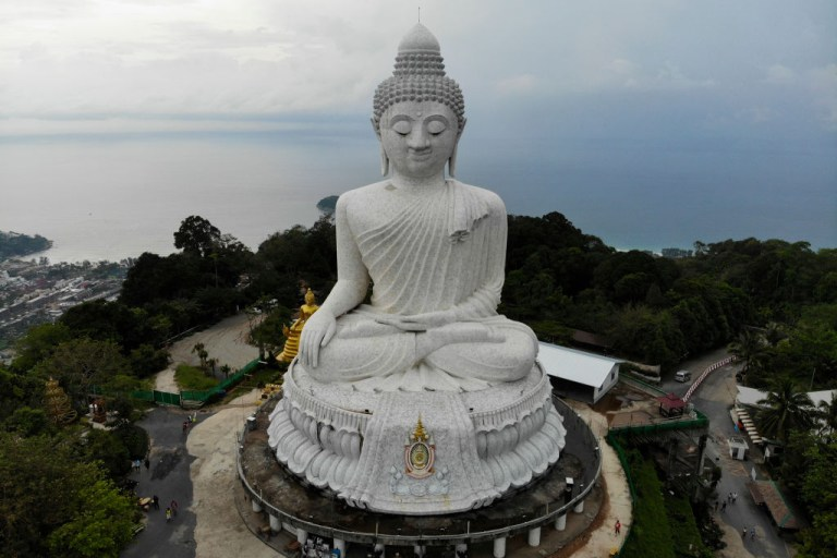 the Big Buddha temple in Phuket