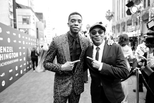 Chadwick Boseman and Spike Lee at the 47th AFI Life Achievement Award Honoring Denzel Washington