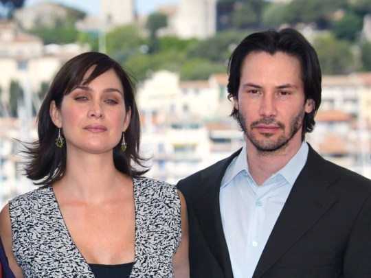 Carrie-Anne Moss and Keanu Reeves