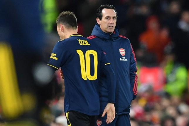 Mesut Ozil rarely saw eye-to-eye with former Arsenal manager Unai Emery