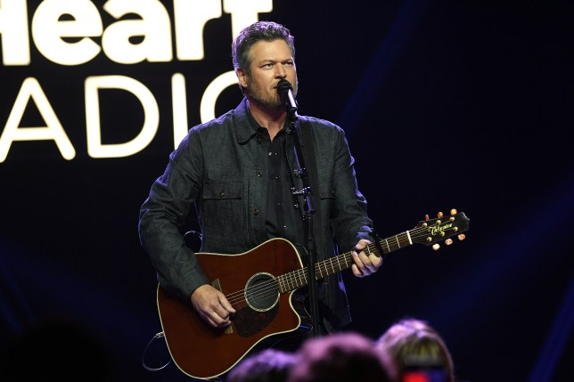 Blake Shelton performs at the iHeartRadio Theater