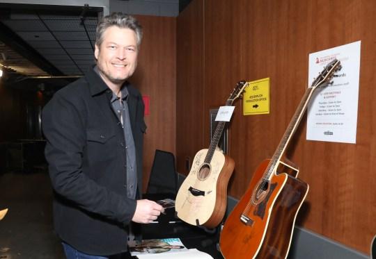 Country singer Blake Shelton