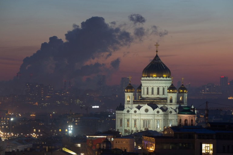 The Cathedral of Christ the Saviour in moscow