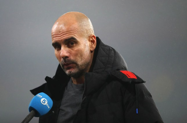 Pep Guardiola, Manager of Manchester City speaks to the press after the Carabao Cup Quarter Final match between Arsenal and Manchester City at Emirates Stadium on December 22, 2020 in London, England. The match will be played without fans, behind closed doors as a Covid-19 precaution.