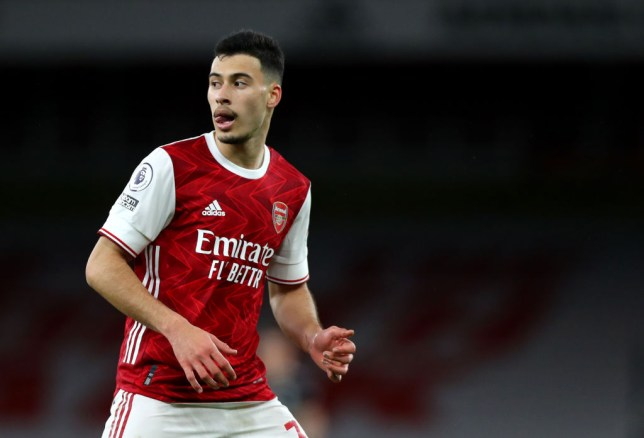 Gabriel Martinelli suffered an injury in the warm-up ahead of Arsenal's FA Cup tie against Newcastle
