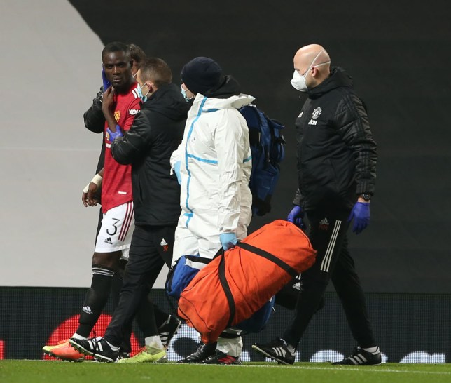 Bailly was forced off just before half-time