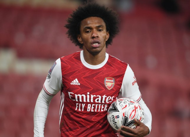 Willian looks on during Arsenal's FA Cup clash with Newcastle