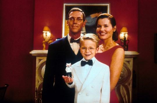 Hugh Laurie, Jonathan Lipnicki and Geena Davis In Stuart Little