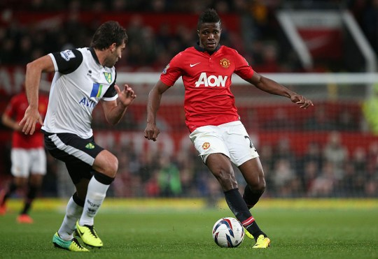Wilfried Zaha made just four first-team appearances for Manchester United