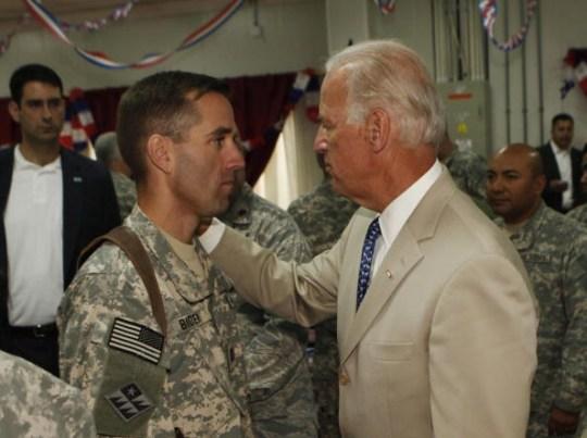 Beau (L) and Joe Biden (R)