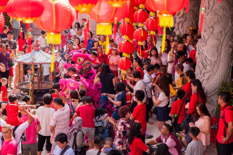 The Thean Hou Temple on the first day of Chinese New Year