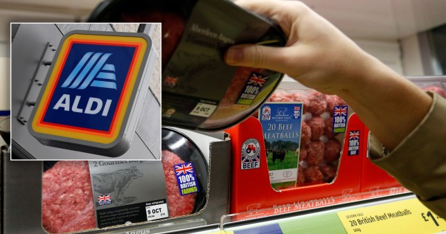 British made products on the shelves at Aldi