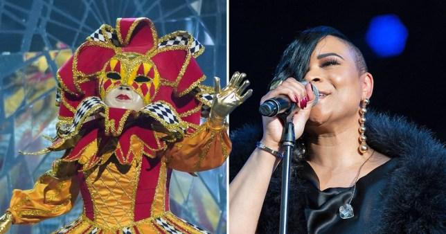Harlequin on The Masked Singer and singer Gabrielle