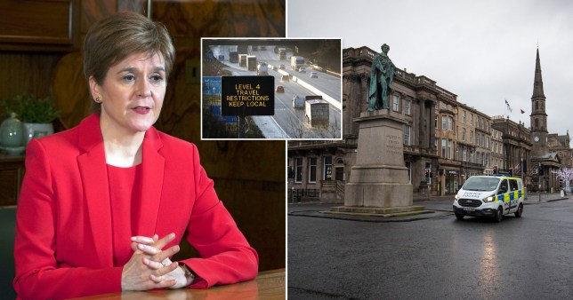 Nicola Sturgeon is reportedly considering legally enforcing a 'stay at home' rule.