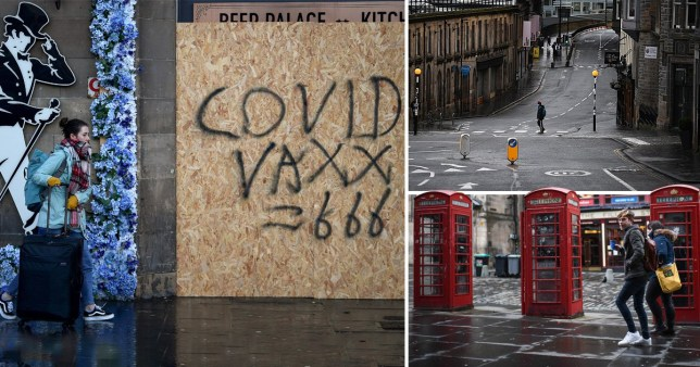 Pictures of Scotland under Covid restrictions