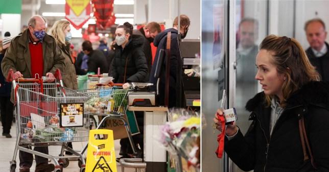Supermarket rules in lockdown
