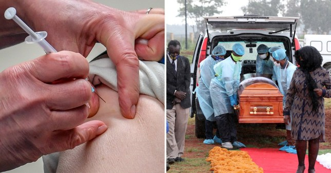A coronavirus vaccine is delivered, and a funeral procession in South Africa as the country battles with the coronavirus pandemic