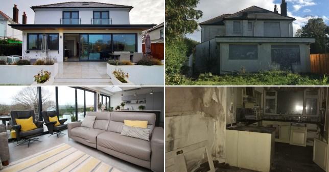 former drug den converted into stunning family home