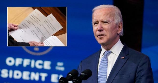 Joe Biden will be sworn as US president in on January 20.