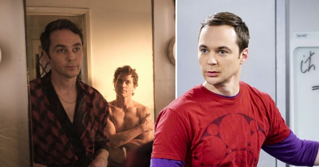 Jim Parsons and Matt Bomer in The Boys in the Band and Jim Parsons in The Big Bang Theory