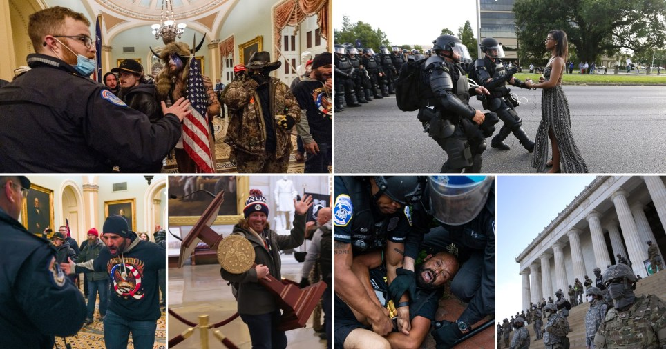 Congresspeople and anti-racism organisations have called out the 'hypocrisy' of the police response against pro-Trump rioters who stormed Capitol Hill.