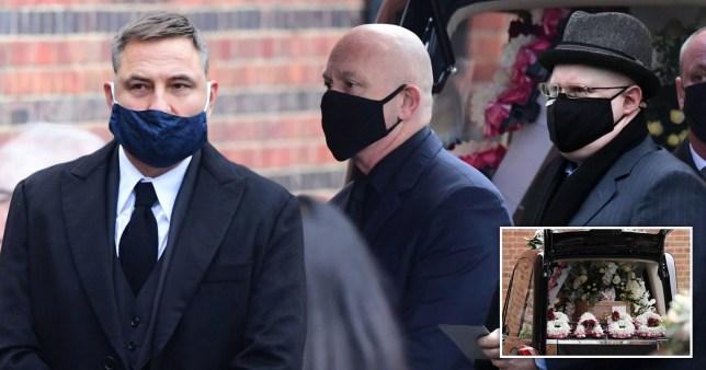 Ross Kemp, David Walliams and Matt Lucas attend the funeral of EastEnders icon Barbara Windsor