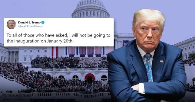 Donald Trump and him tweeting that he will not attend Joe Biden's inauguration on January 20