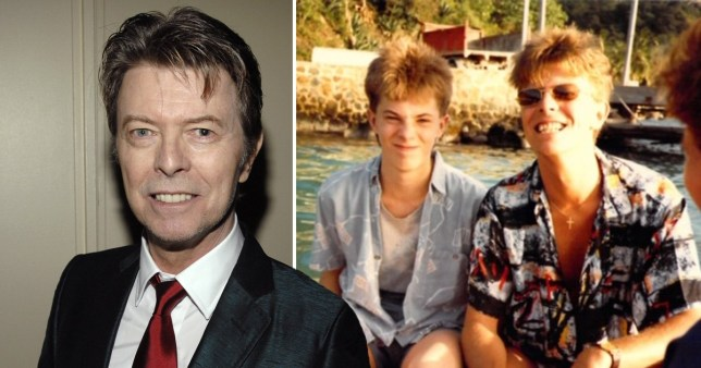 David Bowie and son in throwback photo