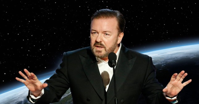 Ricky Gervais in Space
