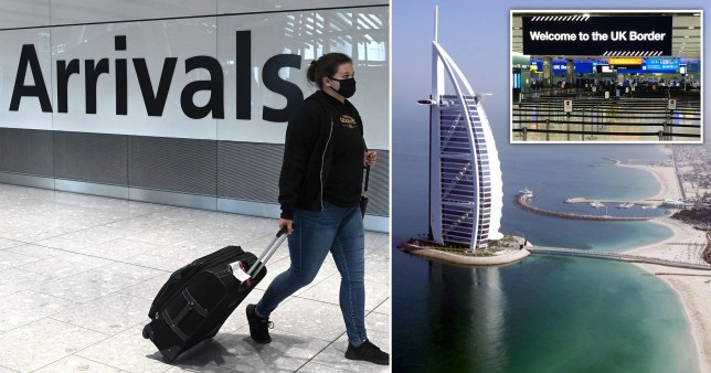 Passengers arriving from the United Arab Emirates must self-isolate.