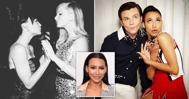 Naya Rivera pictured with Heather Morris and Chris Colfer