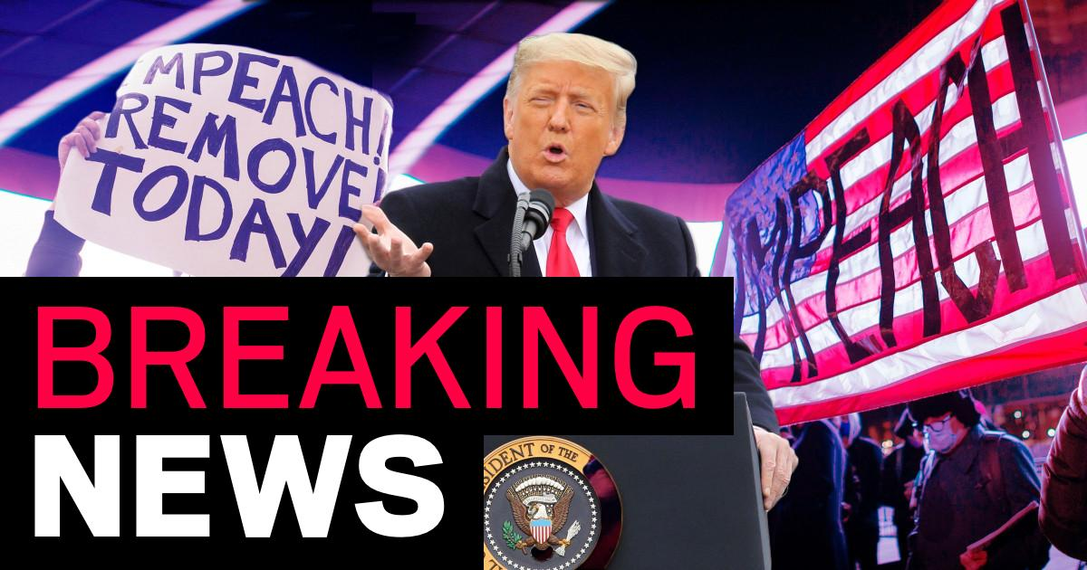 Donald Trump becomes first president to be impeached twice after deadly riot